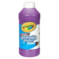 Crayola Washable Paint, Violet, 16 oz., Set of 6 bottles