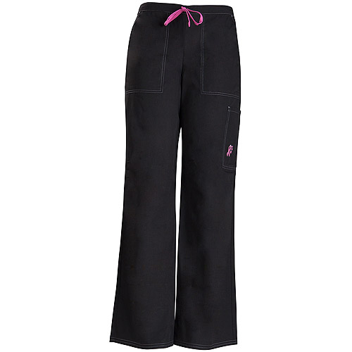 Black Cargo Pant Embroidered