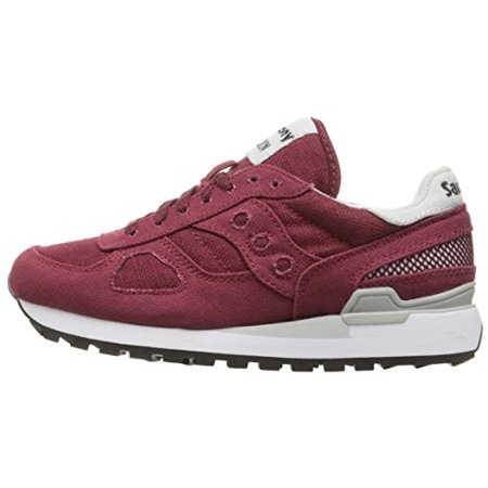 5473fb574af40 Saucony Originals Women's Shadow Original Vegan Fashion Sneakers, Burgundy,  8 M