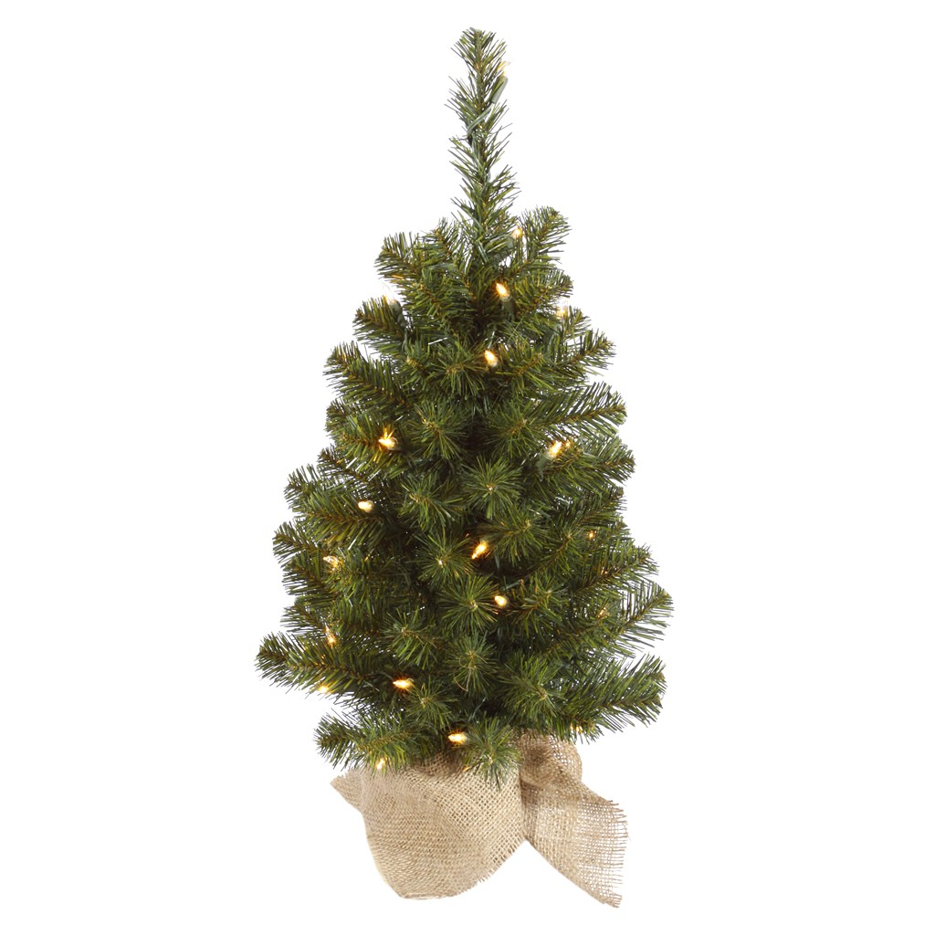 Vickerman Felton 2.5' Green Pine Artificial Christmas Tree with 50 Clear Lights