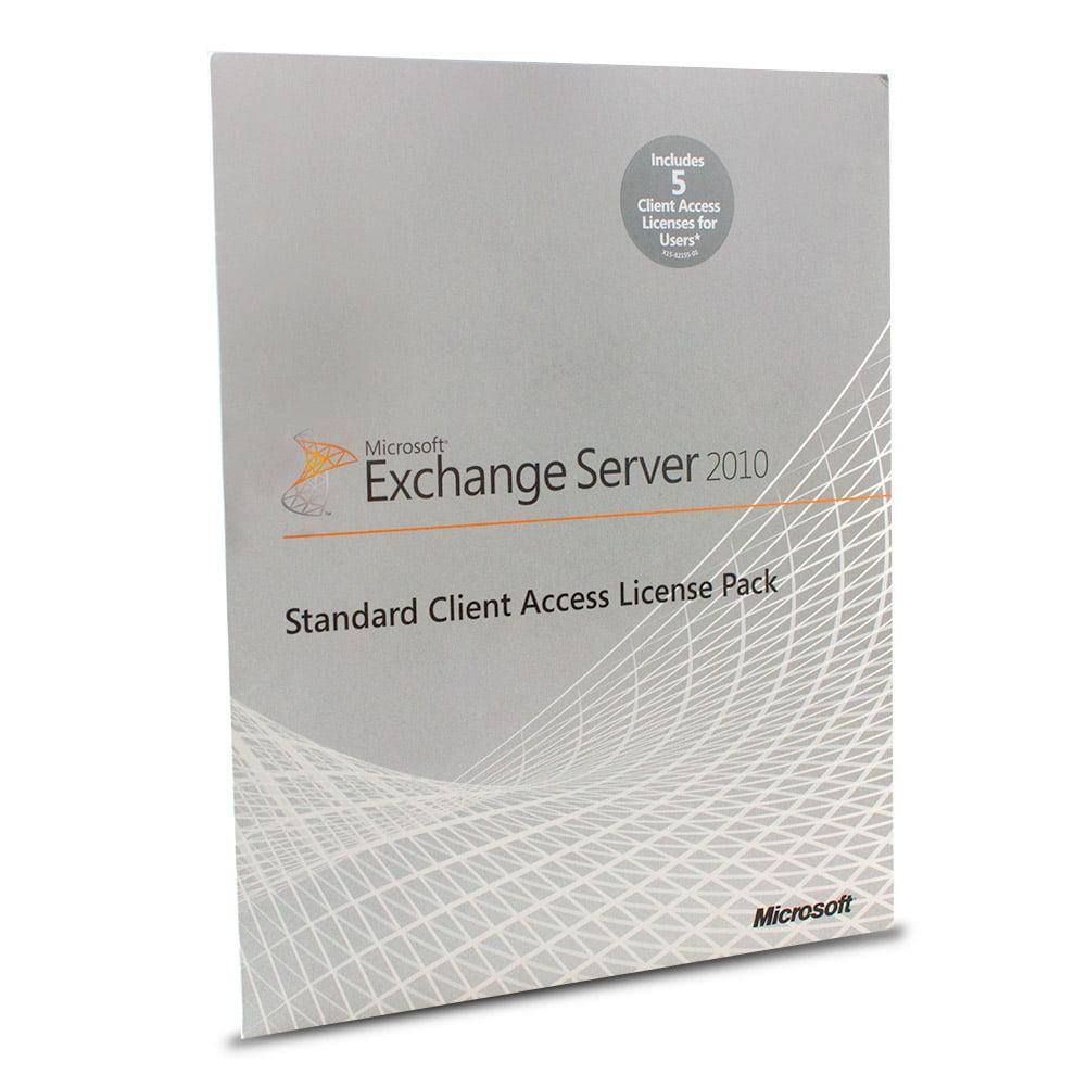 Microsoft Exchange Server 2010 Standard CAL - 5 User CAL, License