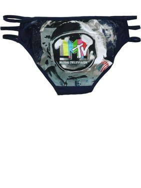 377cea84486d Product Image Womens MTV Astronaut Navy SMPTE Bars Caged Bikini Briefs  Underwear Panties