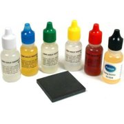 Precious Metals Testing Kit Silver, Platinum, 10k 14k 18k 22k Gold Tests Plus Stone, Economy Touch Stone included By PuriTEST