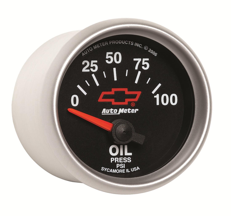 Auto Meter 3627 2-1//16 0-100 PSI Short Sweep Electric Oil Pressure Gauge