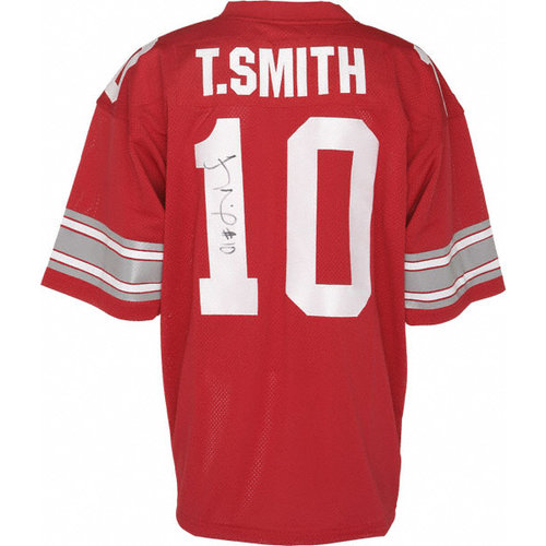 NCAA - Troy Smith Ohio State Buckeyes Autographed Red Custom Jersey