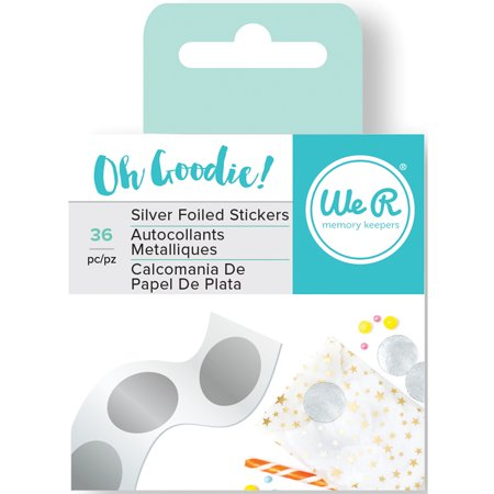 We R Oh Goodie! Foil Stickers 36/Roll-Silver Circle