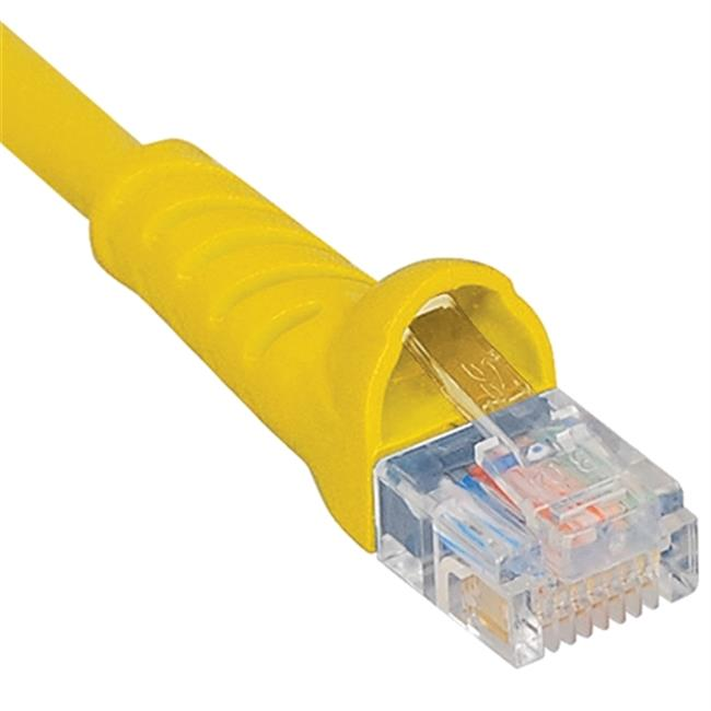 ICC ICPCSK07YL 7 ft. Ultra Slim Line Molded Boot Category 6 Patch Cord, Yellow
