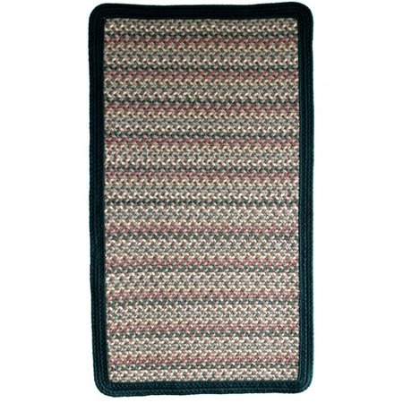- Thorndike Mills Pioneer Valley II Autumn Wheat with Dark Green Solids Multi Square Rug