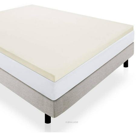 lucid 2 premium soft foam mattress topper multiple sizes. Black Bedroom Furniture Sets. Home Design Ideas