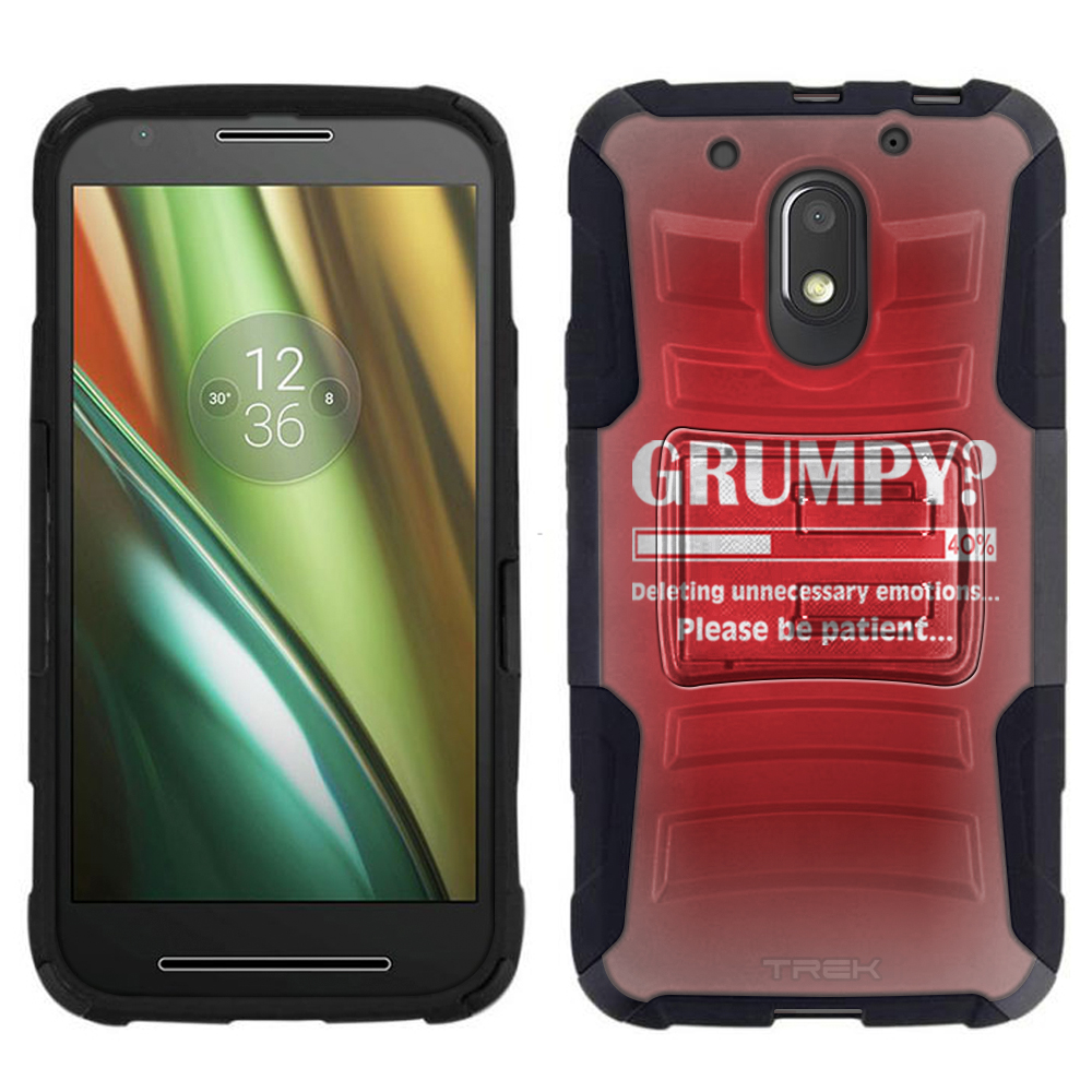 Motorola Moto E3 Armor Hybrid Case - Grumpy Progress Bar