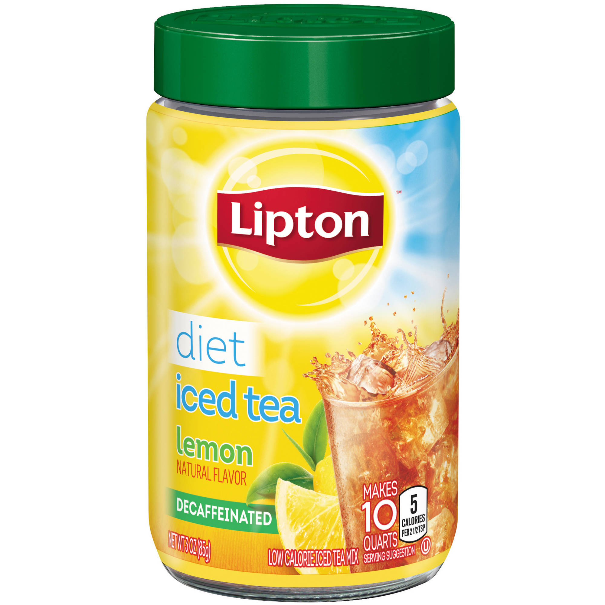 Lipton Diet Decaffeinated Lemon Iced Tea Mix, 10 qt
