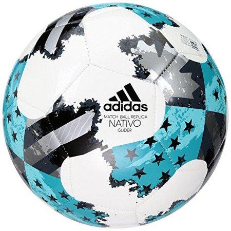 09512259 adidas Performance MLS Glider Soccer Ball, White/Energy Blue/Bold Onyx,  Size 4