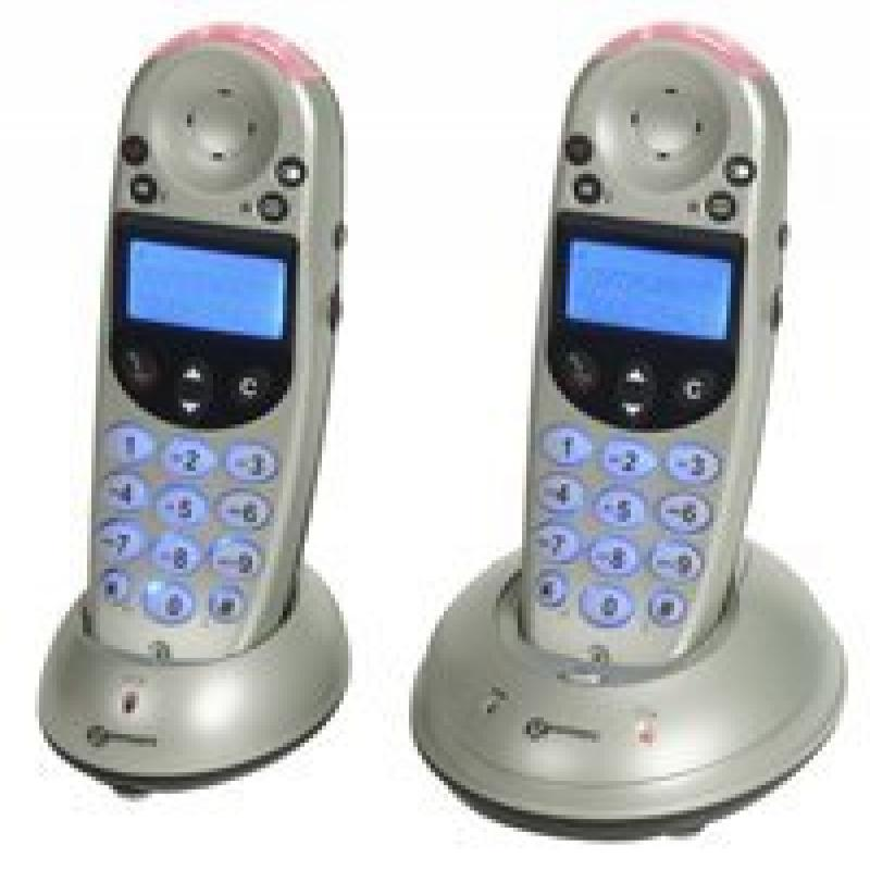 Geemarc Amplified Cordless Telephone, Silver