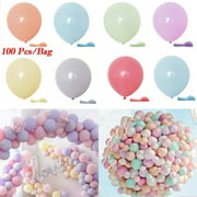 Pack of 100 Macaron Candy Colored Party Balloons Pastel Latex Balloons 10 Inch Party decoration Balloons