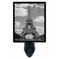 Night Light, Photo Night Light, Eiffel Tower, Paris, France, French plus FREE Switchable Insert