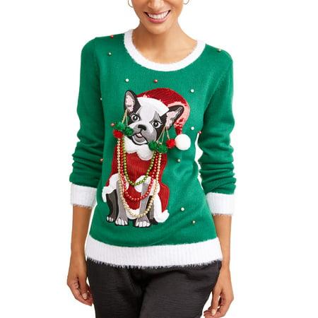 Holiday Time Holiday Time Womens Ugly Christmas Sweater Walmartcom