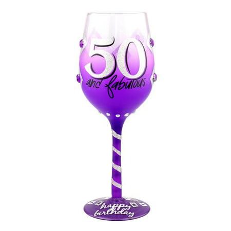 Latitude Run Exeter 50th Birthday 15 oz. Stemmed Wine - 50th Birthday Wine Glass
