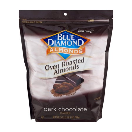 Blue Diamond Almonds, Oven Roasted Cocoa Almonds, Dark Chocolate 25 Oz.