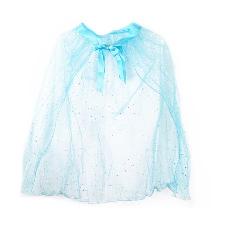 Pretend Play Dress Up Mozlly Blue Princess Twinkle Star Costume Cape](Blue Cape Costume)