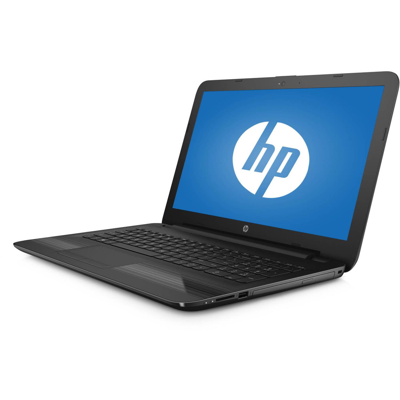 "HP 15-ba018wm 15.6"" Laptop, Windows 10 Home, AMD Quad-Core E2-7110 APU Processor, 4GB RAM, 500GB Hard Drive by HP"