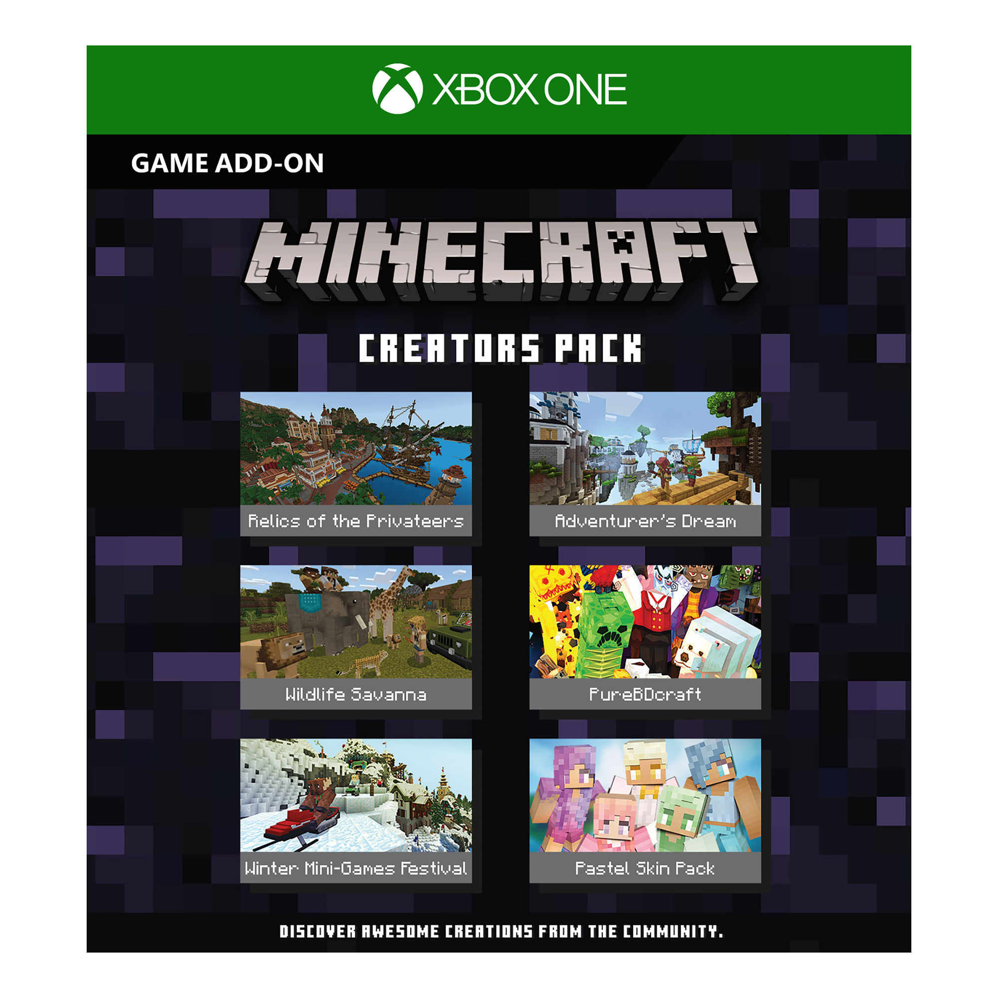 Microsoft Xbox One S 1TB Minecraft Creators Bundle, White