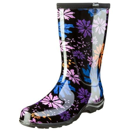 08 Dc Boot (Sloggers Women's Rain & Garden Boot - Flower Power Print)
