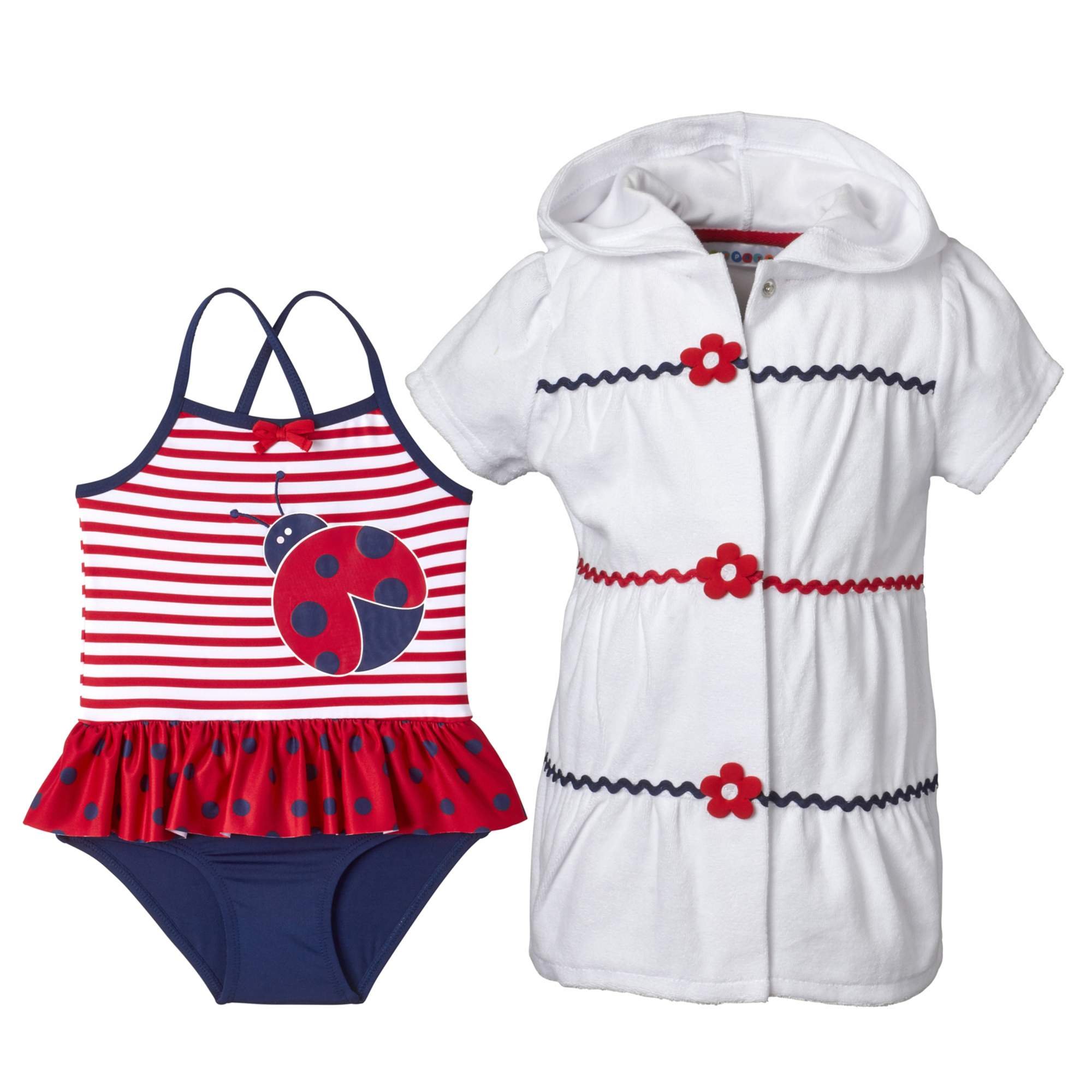 Wippette Toddler Girls Coverup Set with Ladybug