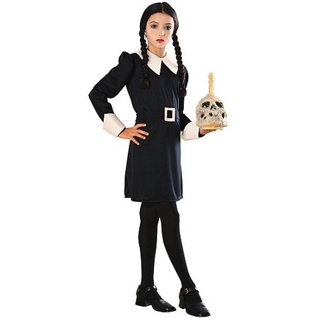 Costume For Family Of 3 (Girl's Wednesday Halloween Costume - The Addams)