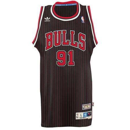 Dennis Rodman Chicago Bulls Adidas NBA Throwback Swingman Jersey Black by