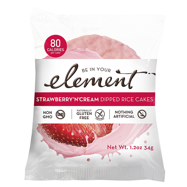 Element Strawberry 'n' Cream Rice Cakes 1.2 oz Pouches - ...