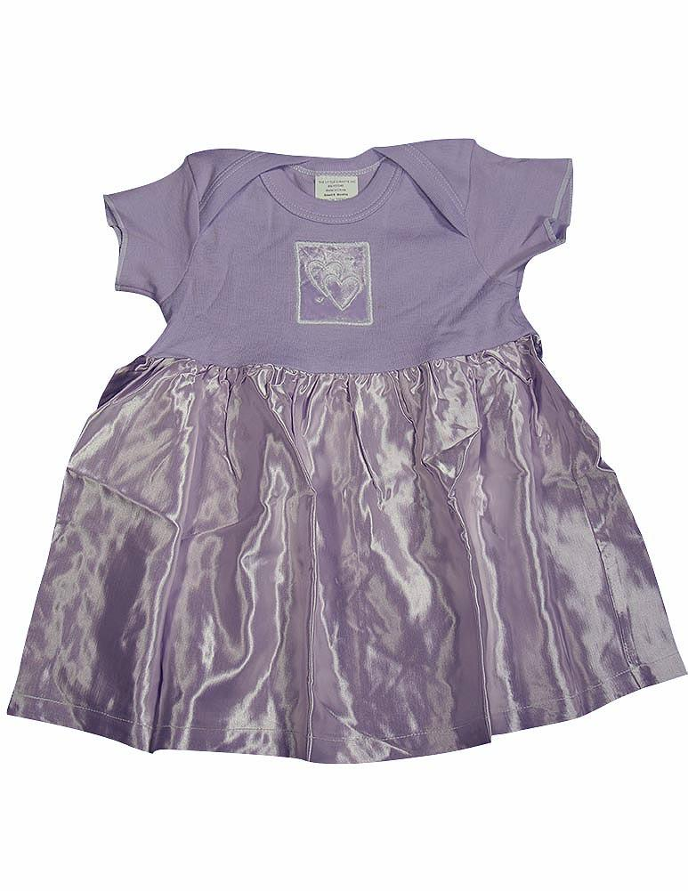 Little Giraffe Baby Newborn Girls Short Sleeve Cotton /& Satin Dress
