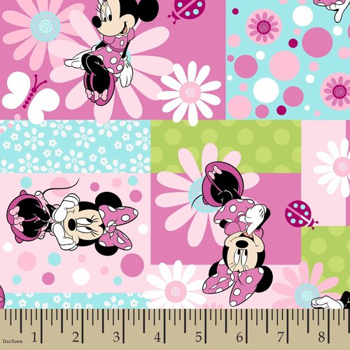 Disney Minnie Mouse Patch Fabric by the Yard