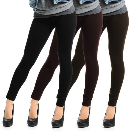 9ef608d895019 DG Wear - 6pk Fleece-Lined Leggings Opaque Footless Winter Warm Adult One  Size Stretch - Walmart.com