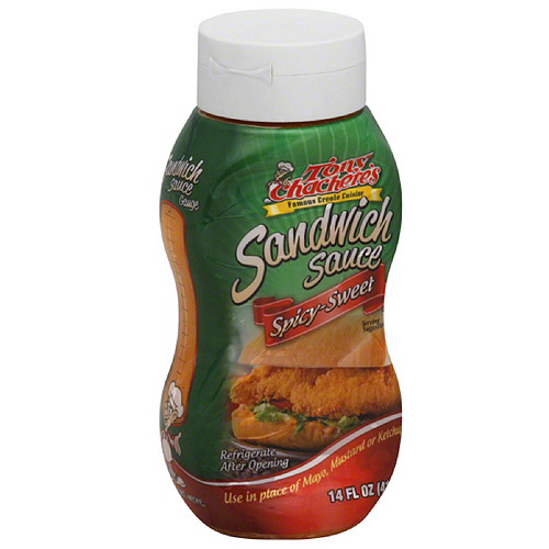 Tony Chachere's Spicy-Sweet Sandwich Sauce, 14 fl oz, (Pack of 6)