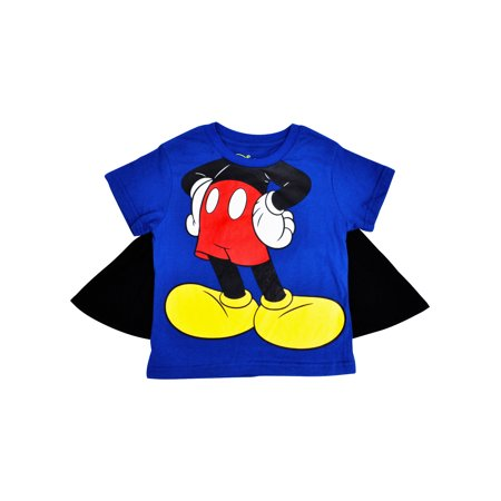Boys Mickey Mouse Halloween Costume T-Shirt with Cape