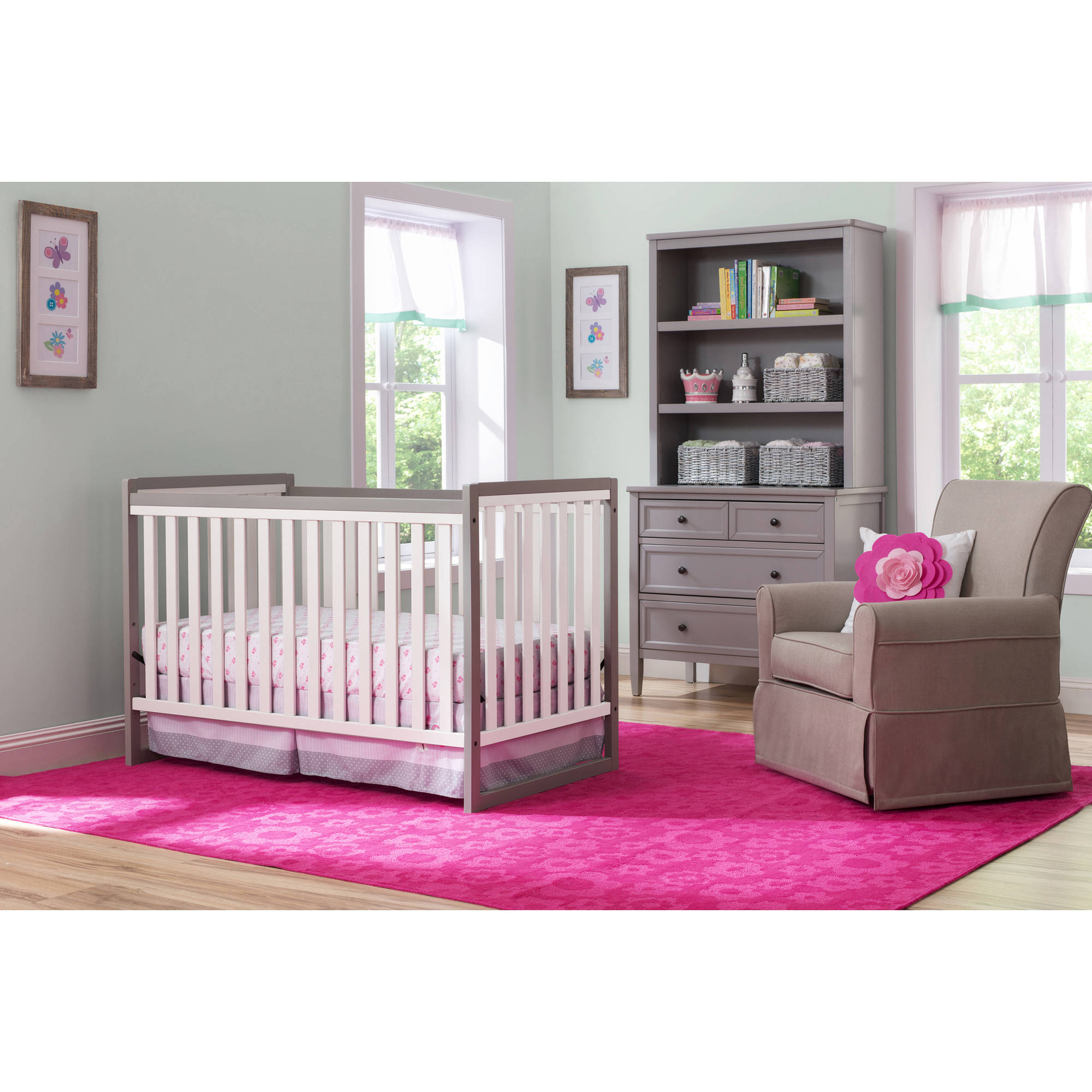 Delta Children Urban Classic 3-in-1 Fixed Side Crib, (Choose Your Finish)