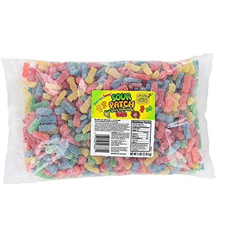 Kids Soft and Chewy Candy, Assorted, 5 Pound Bulk Bag Sour