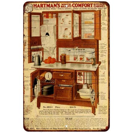 Hartman Furniture Hoosier Cabinet Vintage Look Reproduction 8x12 Sign 8120851