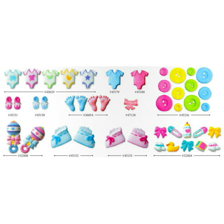 Baby shower sugar cupcake cake decoration topper pack of for Baby shower decoration packs