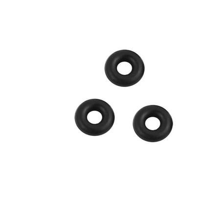 50pcs Black 2mm x 1.8mm Oil Resistant Sealing Ring O-shape NBR Rubber Grommet - image 2 of 2
