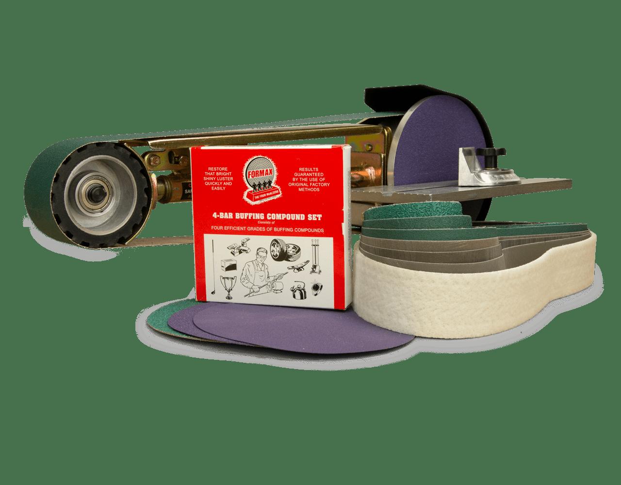 "Multi Tool 2/""x48/"" Belt,7/"" Disc Grinder Attachment+Mitre Table+Metal Belt+Discs"