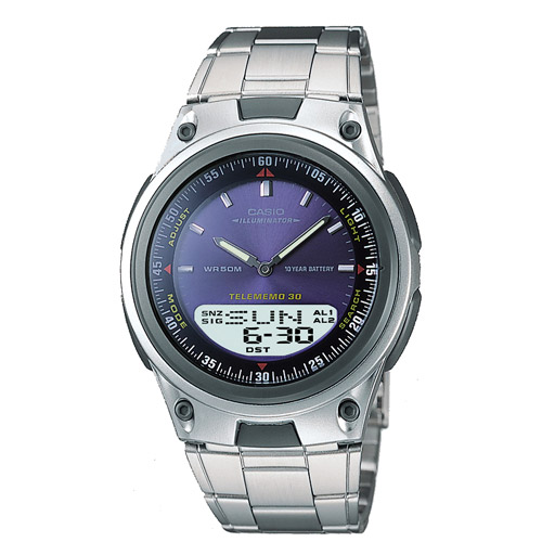 Casio Men's Sports Ana-Digi Databank Watch, Blue