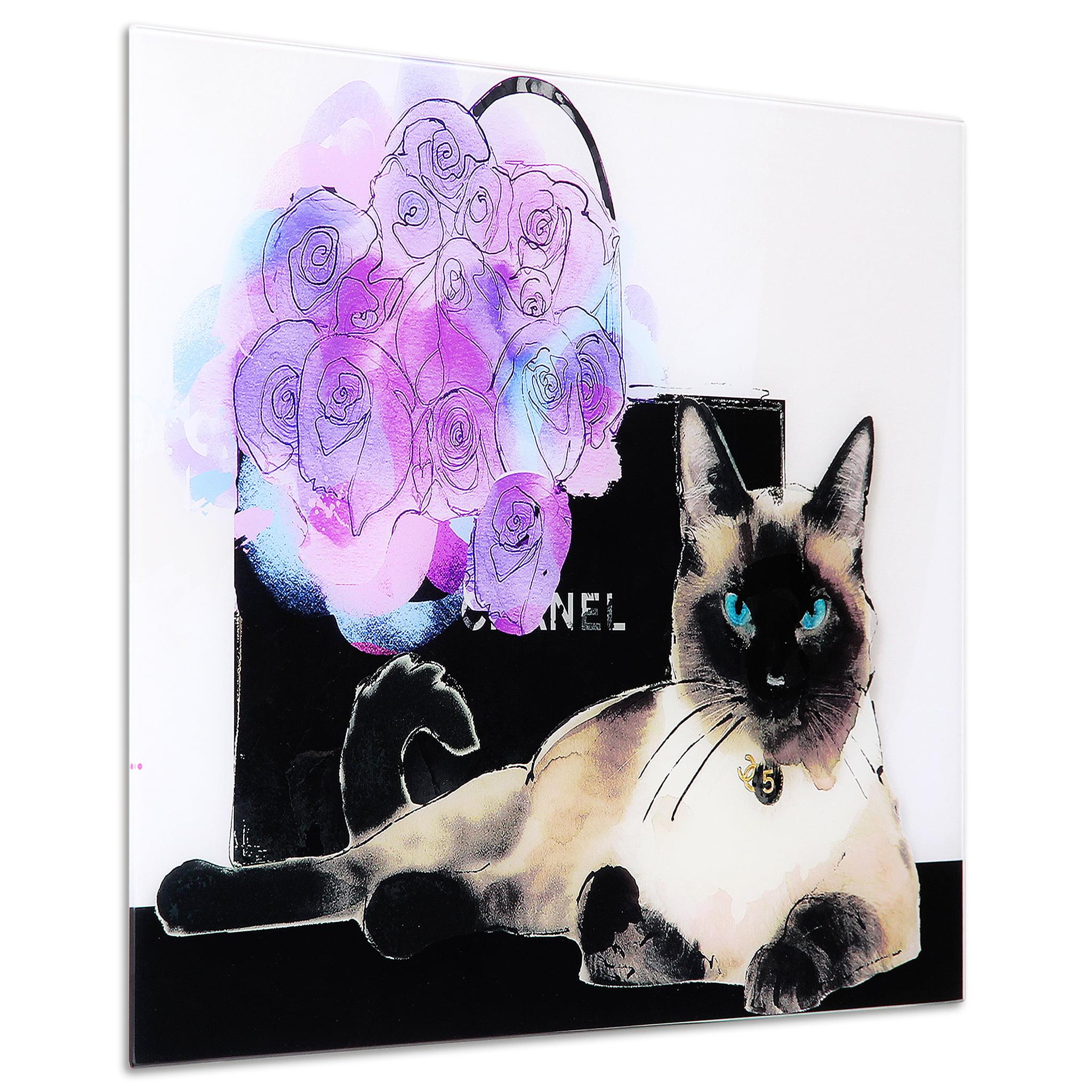 Empire Art Direct Lilac Bouquet Frameless Free Floating Tempered Glass Panel Graphic Cat Wall Art 24 X 16 Ready To Hang Walmart Com Walmart Com