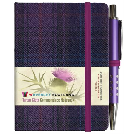 TARTAN NOTEBOOK THISTLE (MINI WITH PEN)](Notebook And Pen)