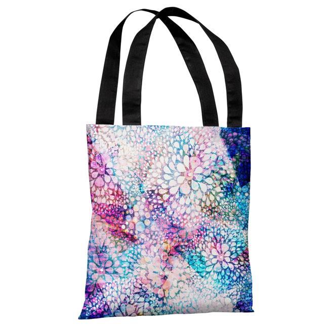 One Bella Casa 73743TT18P 18 in. Sprinkles Polyester Tote Bag - Blue, Pink - image 1 de 1