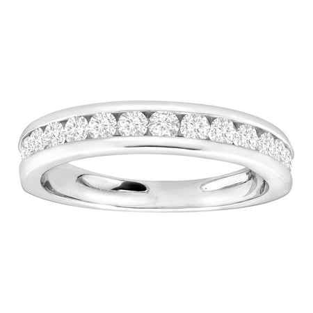 3 4 Ct Diamond Anniversary Band Ring In Sterling Silver