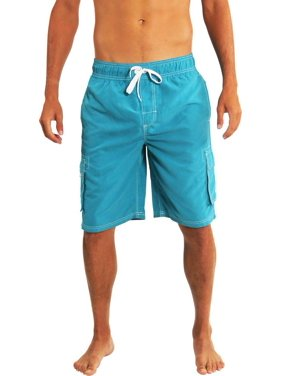 c318e03b24b58 Product Image Norty Mens Swim Trunks - Watershort Swimsuit - Cargo Pockets  - Drawstring Waist Aqua 2 /