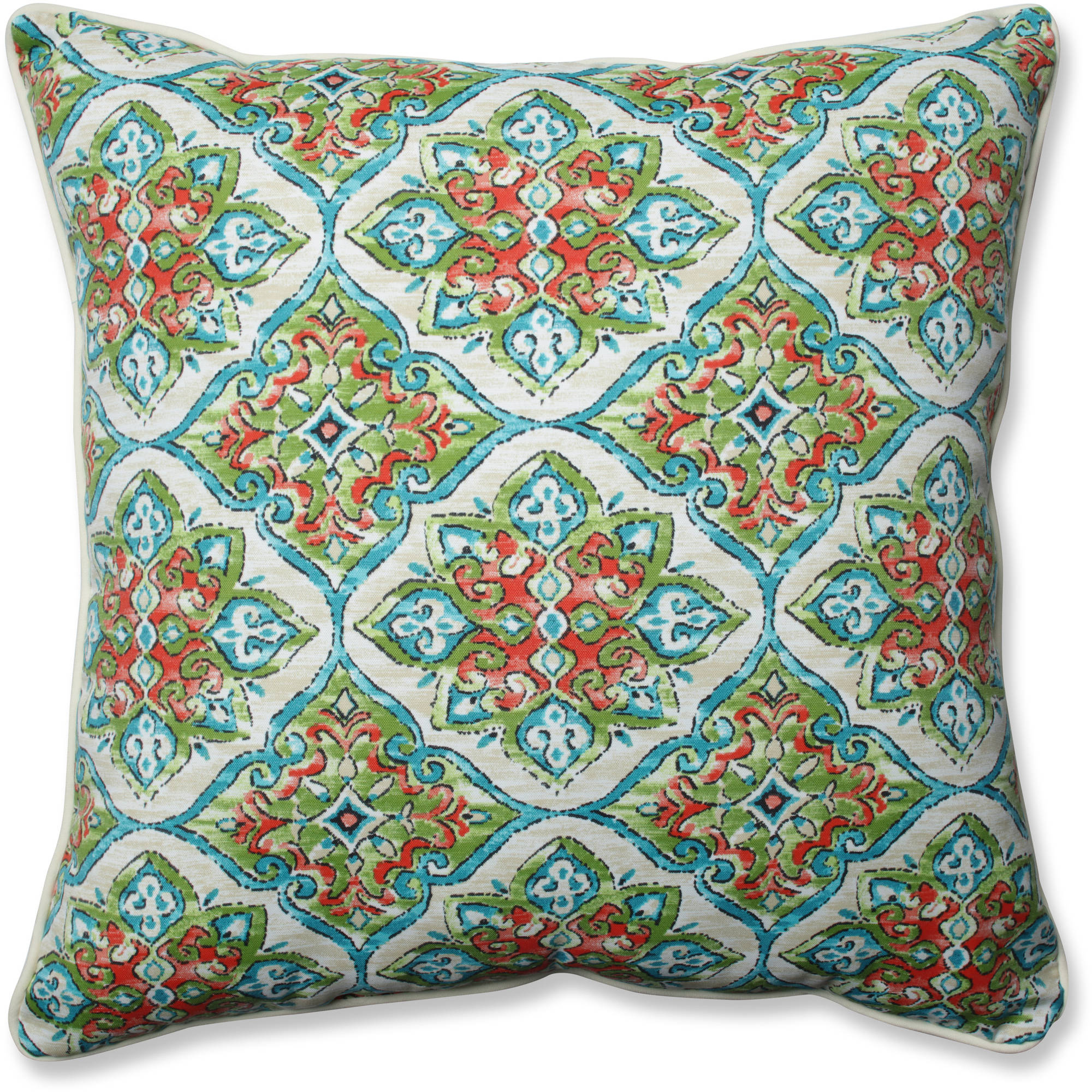 "Pillow Perfect Outdoor/Indoor Splendor Opal 25"" Floor Pillow"