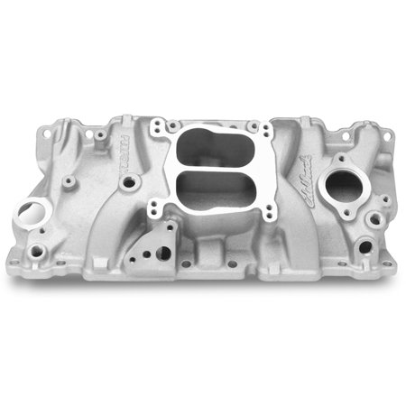 Edelbrock Egr Plates (Edelbrock 3706 Performer Series Intake Manifold; Satin Finish; Idle-5500rpm; For 4 bbl Carbs; For Cast Iron Heads;)