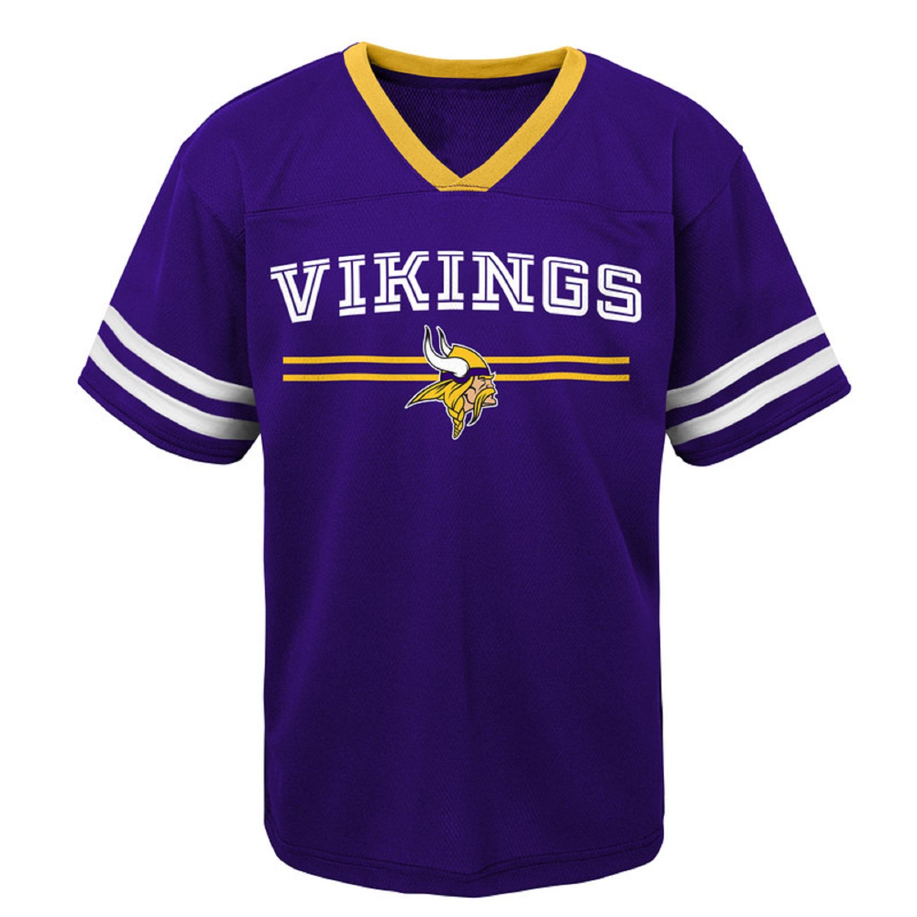 Youth Purple Minnesota Vikings Mesh V-Neck T-Shirt